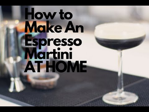 How To Make An Espresso Martini AT HOME
