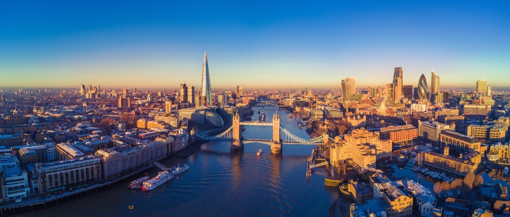 London Scenery from a Drone